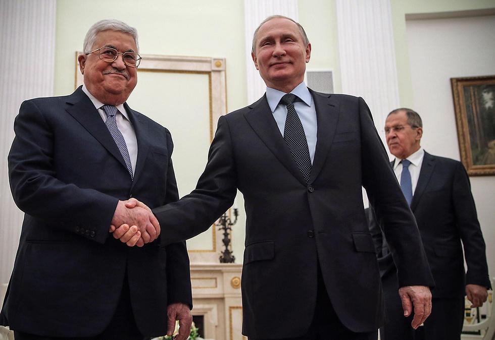 Абу-Мазен и Путин. Фото: AFP