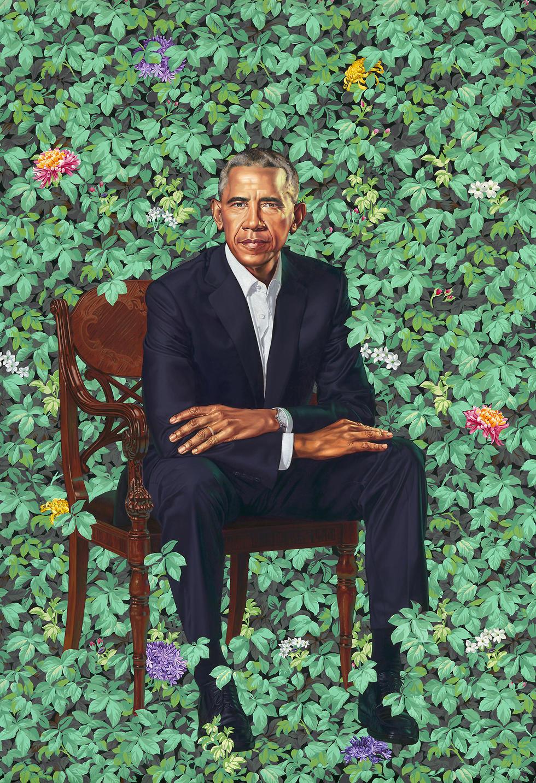 """הדיוקן של אובמה. """"ביקשתי שהשיער יהיה פחות אפור"""" (צילום: AP) (צילום: AP)"""
