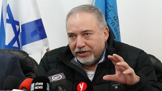 Defense Minister Lieberman said, 'Now is the time to bite' (Photo: Effi Sharir)