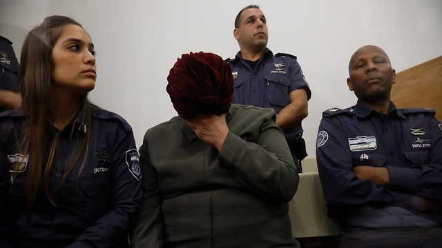 Malka Leifer in court  (Photo: Shaul Golan)