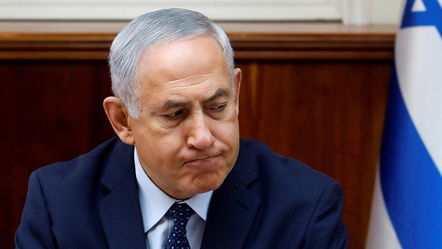 PM Netanyahu. Like a person heading down a slippery slope and trying to hold onto everything he encounters on the way (Photo: Reuters)