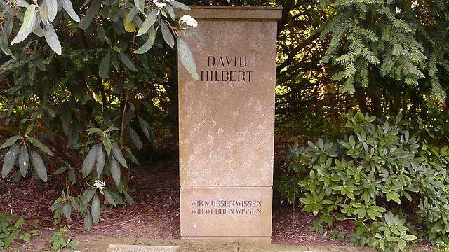 המצבה של הילברט (צילום: מתוך ויקיפדיה) (צילום: מתוך ויקיפדיה)
