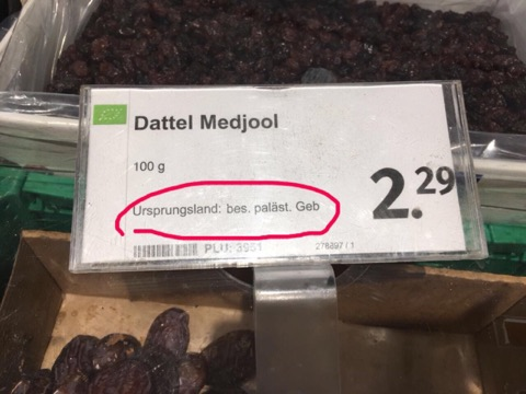 """Ценник в супермаркете """"Денна"""" в Кельне. Фото из блога Хаи"""