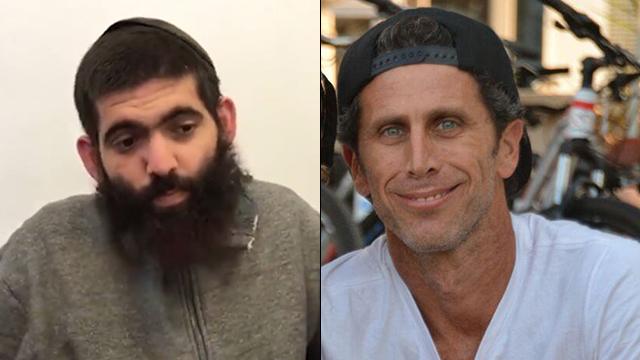 מימין לשמאל: איתי מור ואמיר בסטיקר שהואשם ברצח (צילום: גדי קבלו) (צילום: גדי קבלו)