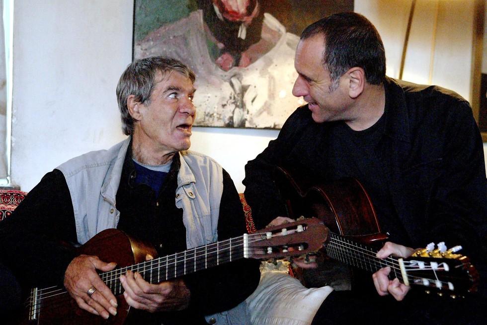 עם דויד ברוזה  (צילום: מיכאל קרמר) (צילום: מיכאל קרמר)