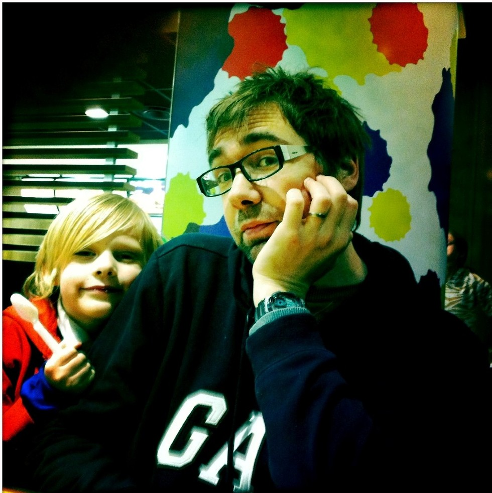 עם הבן זאק (צילום: מתוך האלבום המשפחתי) (צילום: מתוך האלבום המשפחתי)