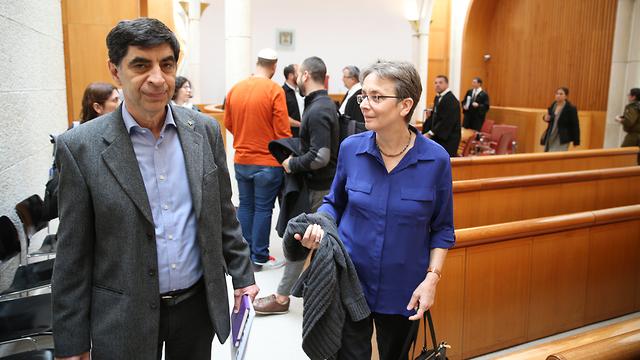 Goldin's parents at court (Photo: Amit Shabi)