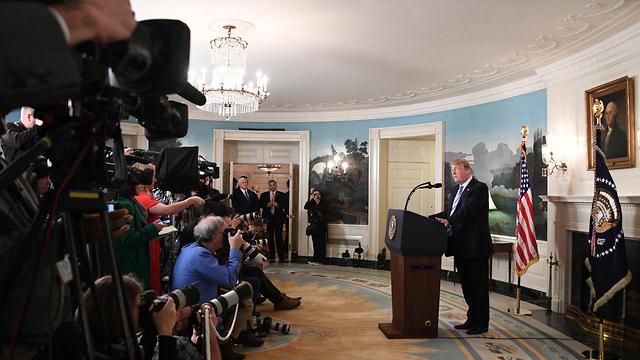 טראמפ. הפעילות הרוסית בנוגע אליו גברה בינואר-יוני 2016 (צילום: AFP) (צילום: AFP)