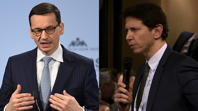 Polish PM Morawiecki told Yedioth Ahronoth journalist Ronen Bergman that there were also 'Jewish perpetrators' in the Holocaust (Photo: AP)