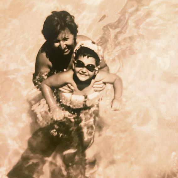 Ronen Bergman with his late mother, Miriam