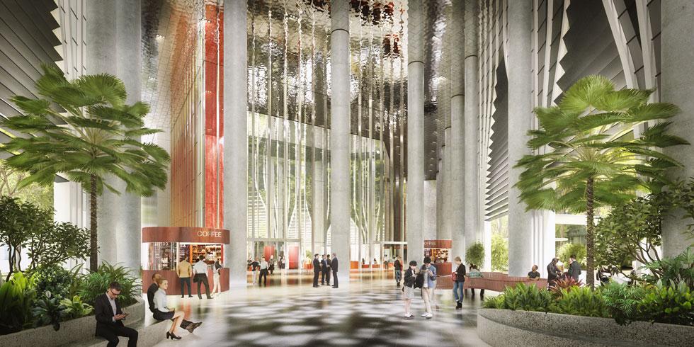 הפרויקט הפוטוגני, שמתוכנן במשרד האדריכלים המצליח מדנמרק BIG, מאפשר לעצים להוציא את ענפיהם החוצה דרך הפתחים (הדמיה: באדיבות Big bjarke ingels group original)