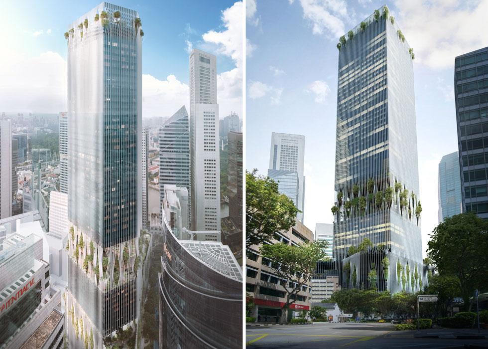 הלהיט המתוקשר הבא הוא מגדל Sing בסינגפור, שבו כלואים העצים לאורך חזיתותיו (הדמיות: באדיבות Big bjarke ingels group original)