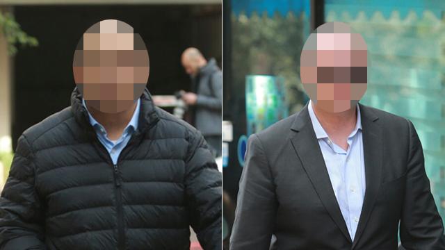 שני הבכירים לשעבר מגיעים למשרדי רשות ניירות ערך (צילום: אוראל כהן) (צילום: אוראל כהן)