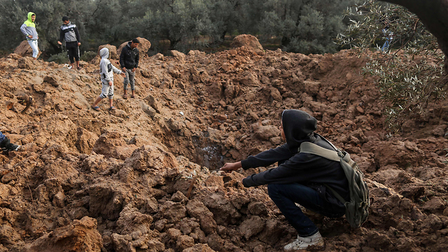 שכונת זיתון בעזה, אחרי תקיפת חיל האוויר (צילום: AFP) (צילום: AFP)