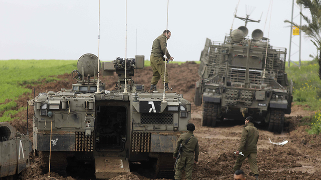 File photo. IDF forces near the Gaza border (Photo: AFP)