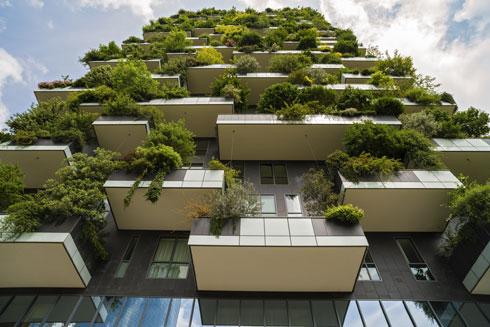 Bosco Verticale (היער האנכי) במילאנו, של האדריכל סטפנו בוארי, סימן את המגמה העולמית. מרפסות קופצות עם עצים, בסופו של דבר (צילום: Cristian Zamfir/Shutterstock)