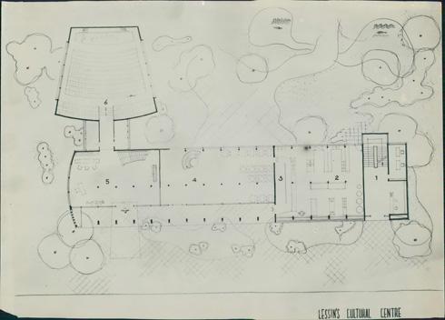 תוכנית בית לסין (צילום: י.קלטר, מתוך אוסף התצלומים של יעל אלוני, באדיבות ארכיון עזריאלי לאדריכלות; אוסף אריה שרון)