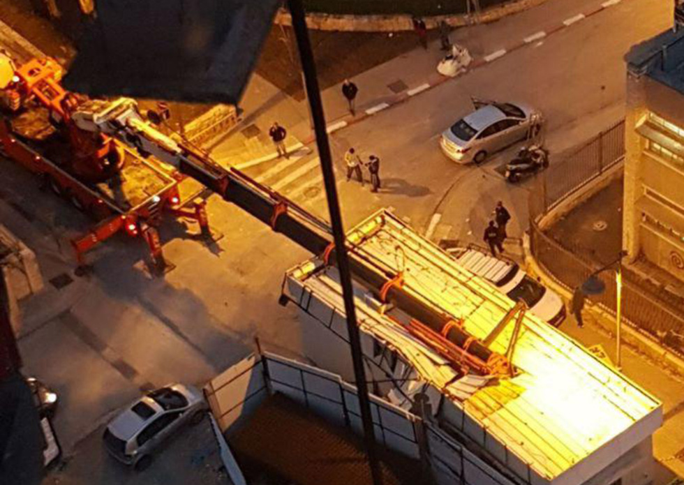 מנוף שקרס אתמול בירושלים (צילום: הפורום למניעת תאונות עבודה) (צילום: הפורום למניעת תאונות עבודה)