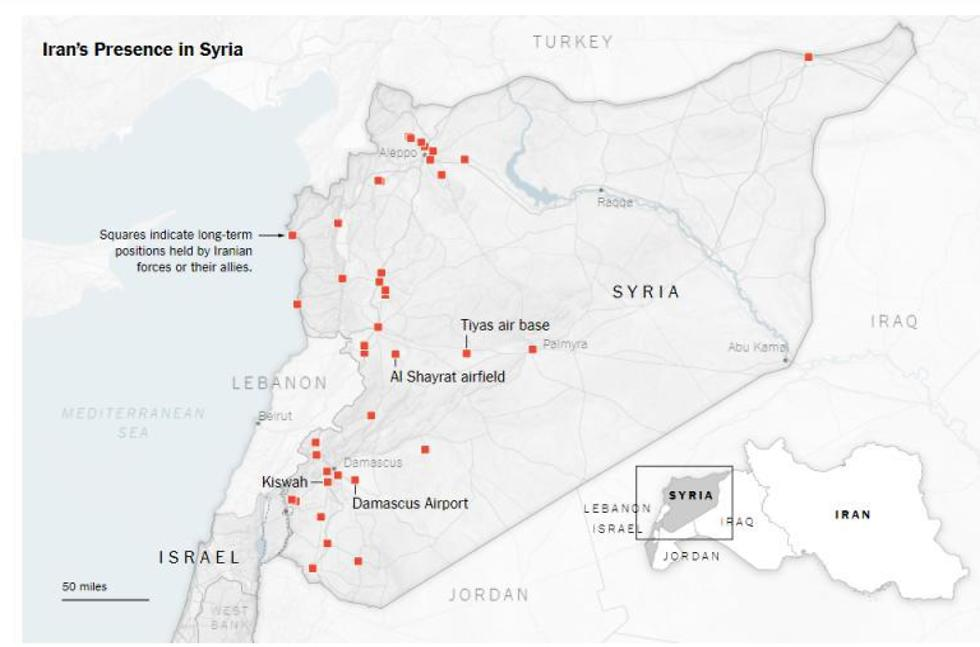 the new york times mapping of iranian presence in syria
