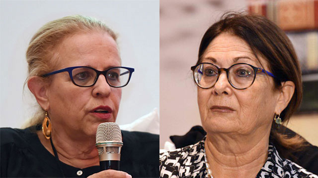 If former Judge Hila Gerstel (L) was so shocked by the proposal she received, why did she only tell her friend, Judge Esther Hayut, instead of complaining to the police?   (Photo: Yair Sagi)
