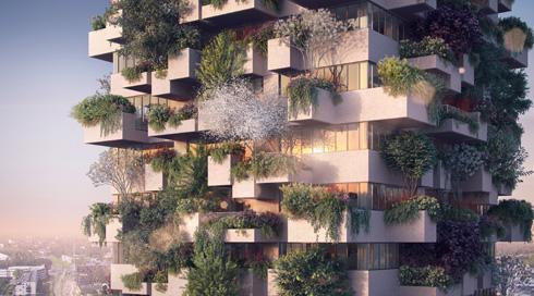 אחד השכפולים של סטפנו בוארי, בעקבות ההצלחה במילאנו. עכשיו מדברים כבר על ''עיר יער'' של 30 אלף תושבים בסין (צילום: The Big Picture, @bigpicturevisual)