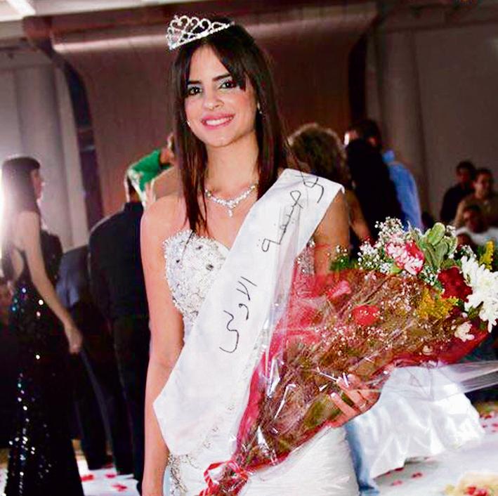 ברגע ההכתרה בתחרות מלכת היופי