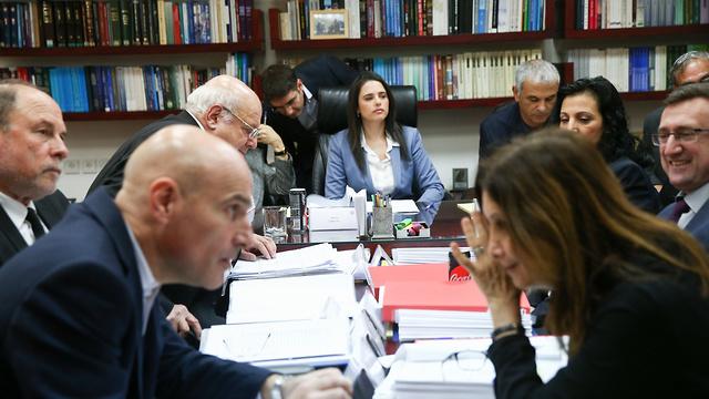 השרה שקד בוועדה לבחירת שופטים (צילום: אוהד צויגנברג) (צילום: אוהד צויגנברג)