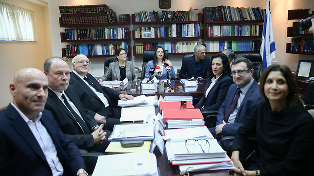 Members of the Judicial Selection Committee (Photo: Ohad Zwigenberg)