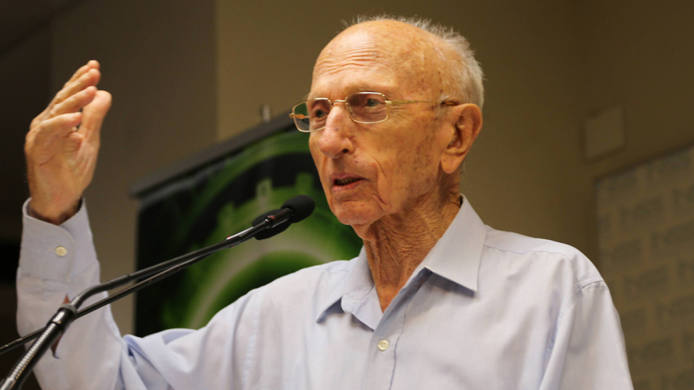 The former head of the Mossad, Zvi Zamir (Photo: Yariv Katz)