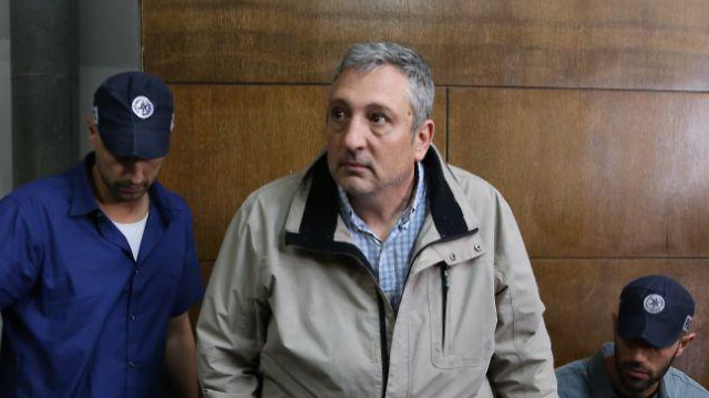 Nir Hefetz in court (Photo: Yaron Brener)