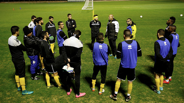 Nordia players and coaching staff at their training grounds (Photo: Reuters)