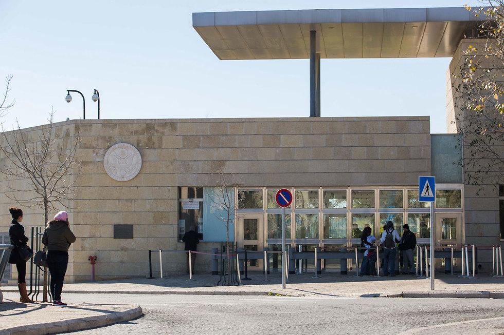 הכניסה לקונסוליה האמריקנית בשכונת ארנונה בירושלים (צילום: נעם ריבקין פנטון, ארכיון ידיעות אחרונות ) (צילום: נעם ריבקין פנטון, ארכיון ידיעות אחרונות )