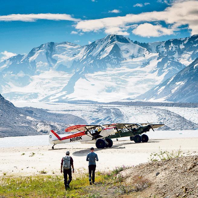מטוסי פייפר בטיול בשמורת רנגל-סנט אליאס