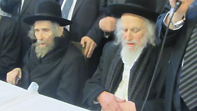 הרב אוירבך (מימין) והרב שטיינמן. תם עידן (צילום: כיכר השבת) (צילום: כיכר השבת)