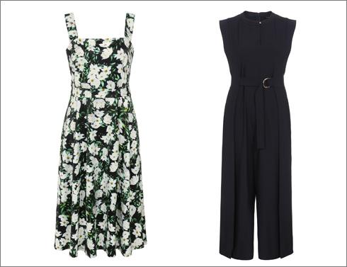 אוברול שחור, 399.90 שקל; שמלה פרחונית, 349.90 שקל (צילום: ניר יפה)