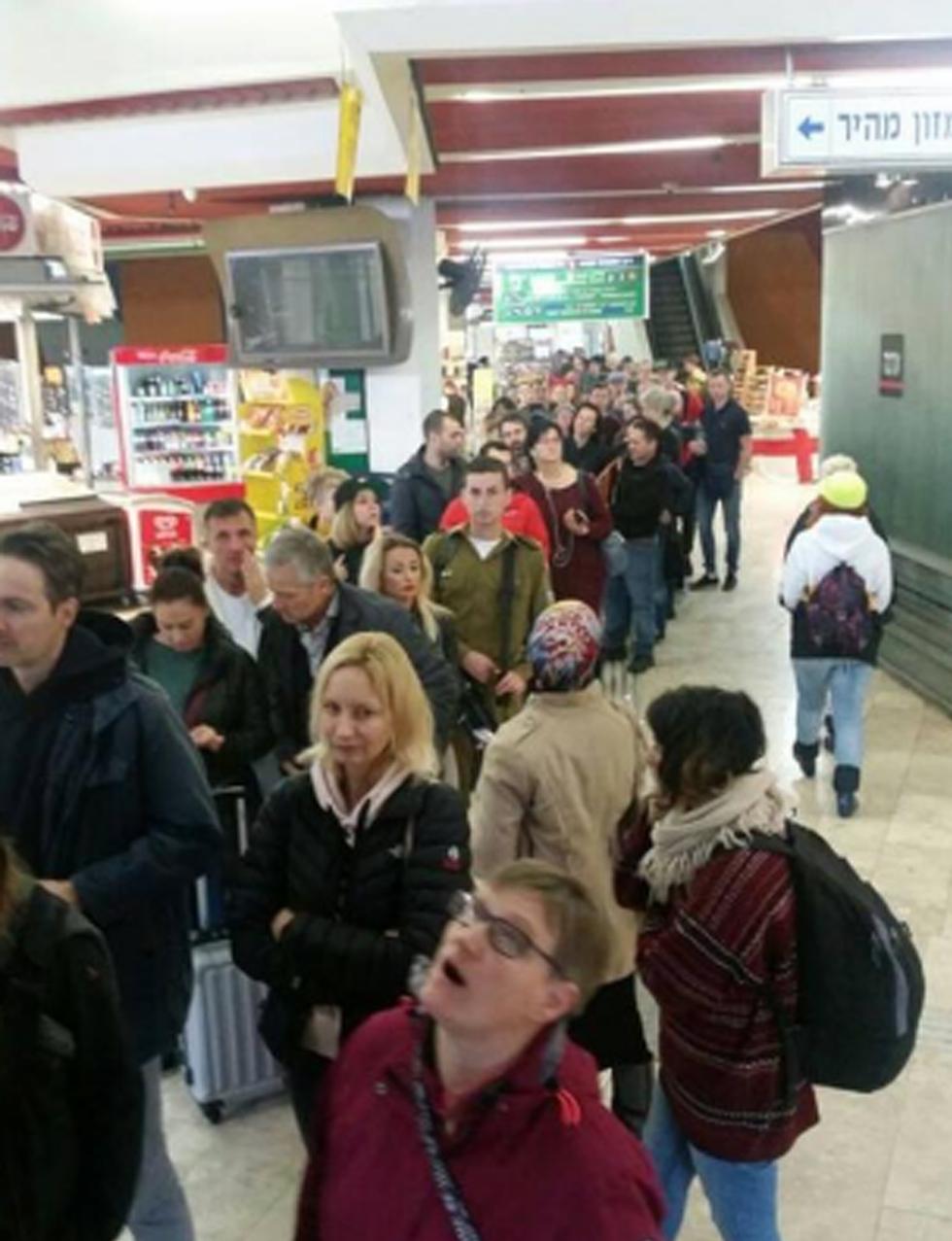 Overcrowded public transit