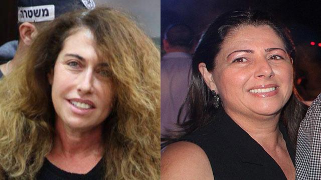 שוחררו למעצר בית. איריס אלוביץ' וסטלה הנדלר (צילום: מוטי קמחי, אוראל כהן) (צילום: מוטי קמחי, אוראל כהן)