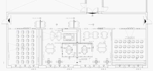 המרחב החדש הוקם בשטחן של ארבע כיתות  (תוכניות: אדריכל ליאור בן שיטרית)