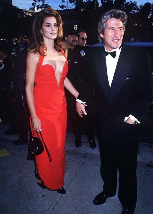 הזוג הלוהט של טקס האוסקר בשנת 1991: סינדי קרופורד עם ריצ'רד גיר (צילום: rex/asap creative)