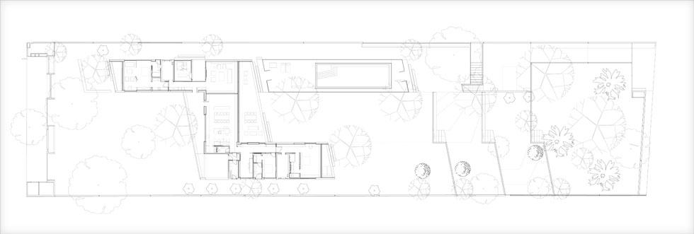 שטח הבית 450 מטרים רבועים, והוא נבנה במפלס אחד ובצורת האות Z על המגרש, ששטחו 4 דונמים. הבריכה תוכננה בהמשך לסלון, והחלק הציבורי מחבר בין שני אגפי השינה. שני חדרים גדולים יוצאים בקצות הבית אל הנוף. תקריב של תוכנית הבית תוכלו לראות בהמשך הכתבה (תוכנית: רוני אלרואי אדריכלים)