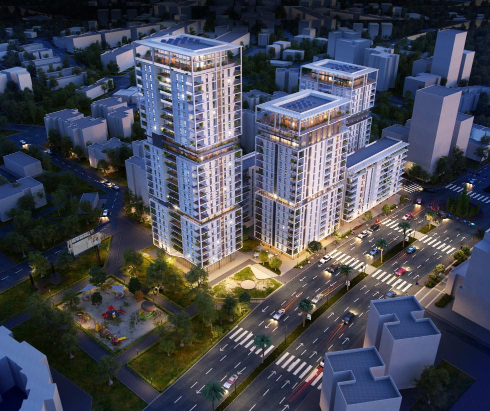 התחדשות עירונית - פרויקט פנחס לבון  (הדמיה: זית לב אדריכלים) (הדמיה: זית לב אדריכלים)
