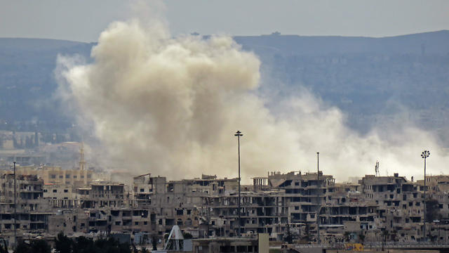 Smoke rising from the rebel-held enclave of Eastern Ghouta following fresh air strikes and rocket fire. (Photo: AFP)