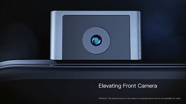 המצלמה הקדמית קופצת מתוך המכשיר (צילום מסך)