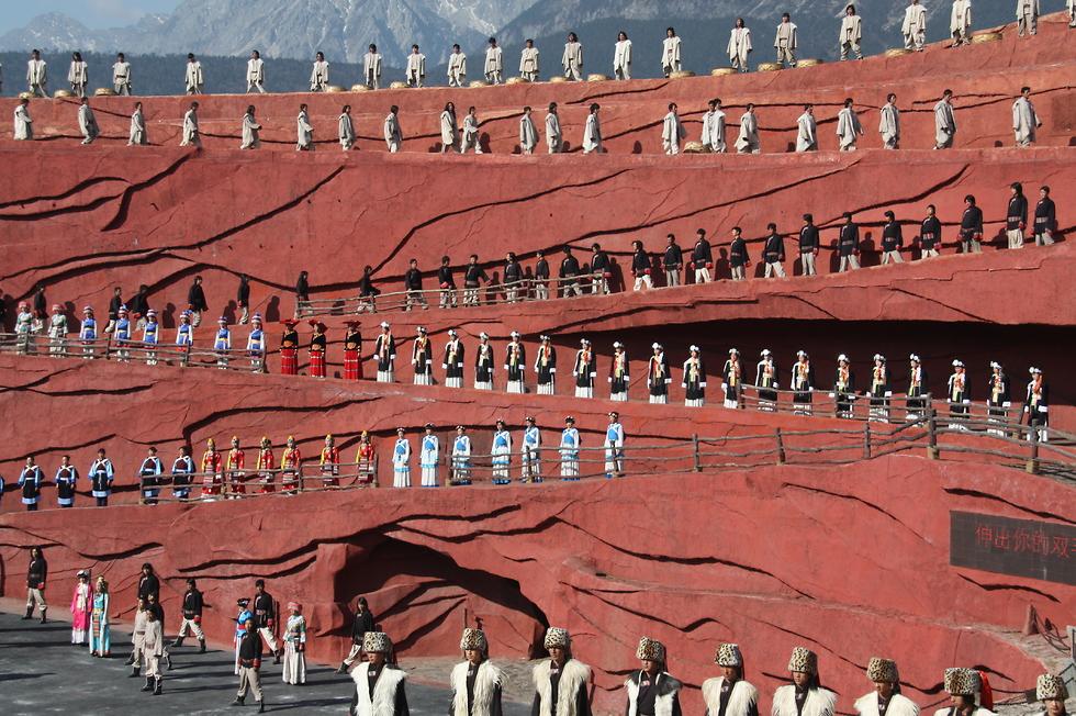 המופע הפתוח הגבוה בעולם (צילום: רון פלד) (צילום: רון פלד)