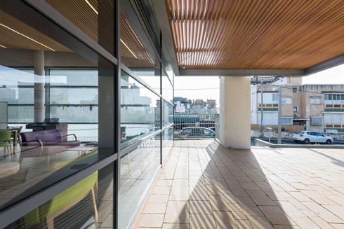 להבטיח אור מרבי בתוך הבניין היה אתגר מרכזי בתכנון (צילום: ליאור גרונדמן)