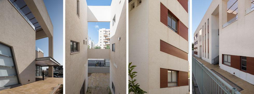 שלושה מבטים על המבנה, שתכנן האדריכל גדעון פובזנר. ''אני בא מתפישת עולם מודרניסטית'', הוא אומר. ''הצורה באה בעקבות התוכן'' (צילום: ליאור גרונדמן)
