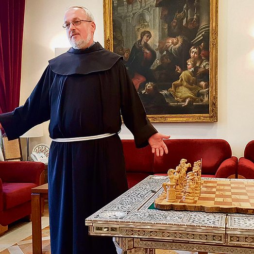 Custodial Vicar Fr. Dobromir, one of the leaders of the Catholic Church. 'We have been here for 800 years, so we have quite a lot of experience with the authorities in the Holy Land'  (Photo: Amit Shabi)