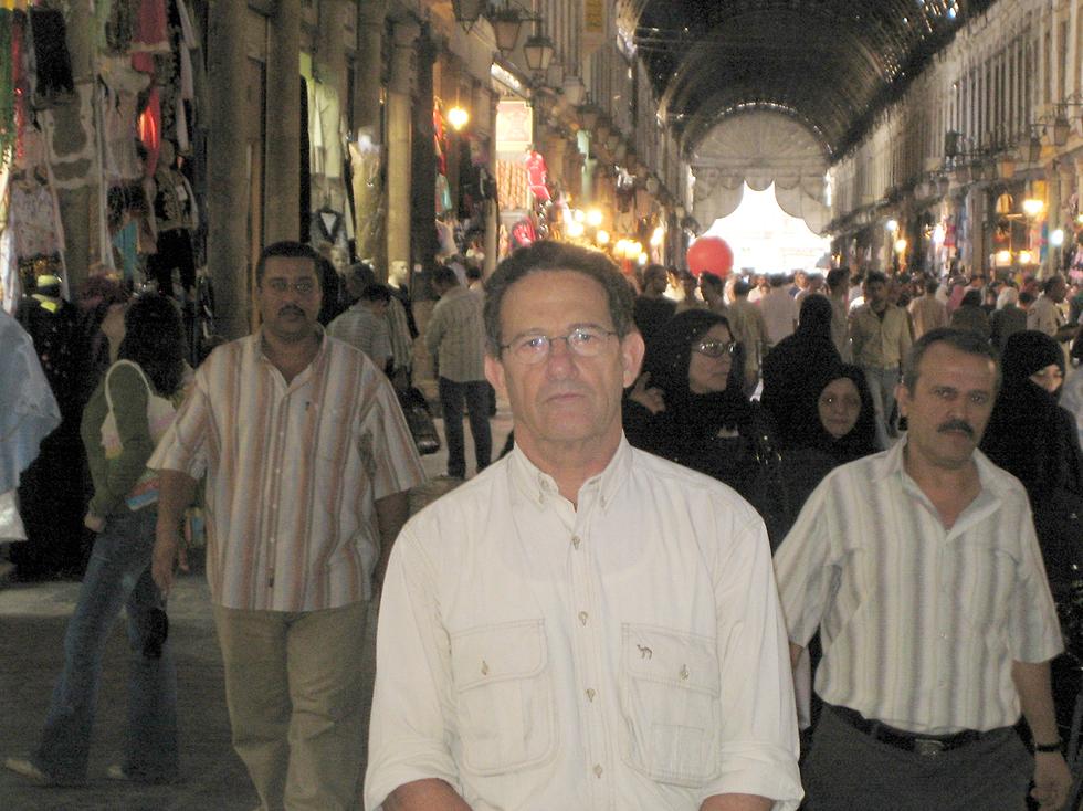 Ron Ben-Yishai at the Damascus bazaar