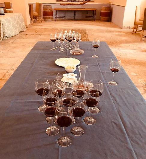 טעימות היין בסוף הסיור ביקב (צילום: שירי הדר)