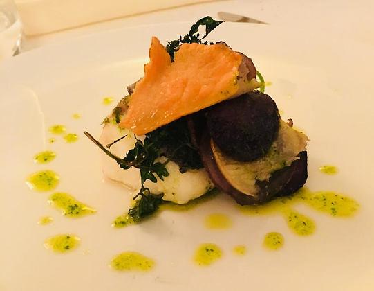 מנת פילה דג קוד במסעדת כוכבי המישלן (צילום: שירי הדר)